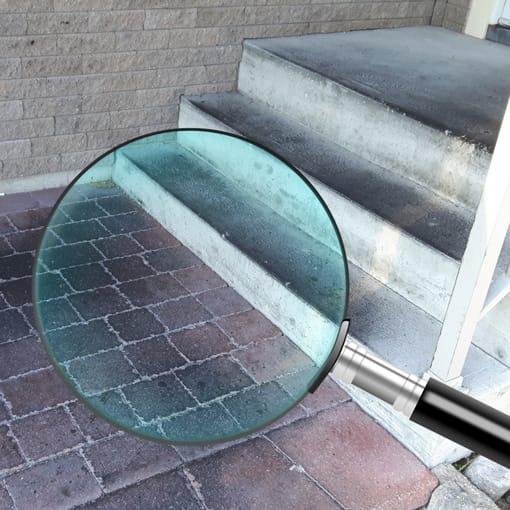 inspection de surfaces de briques et de beton