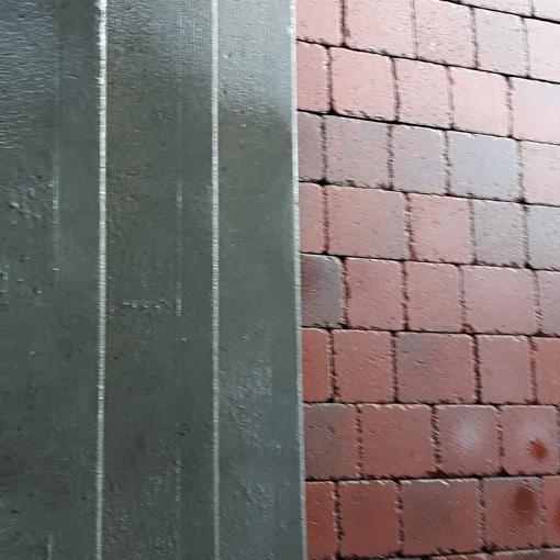 nettoyage haute pression de surfaces en béton et en briques