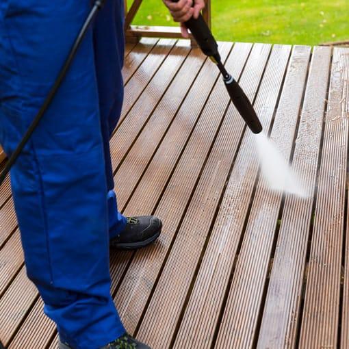 nettoyage à haute pression de terrasses et patio